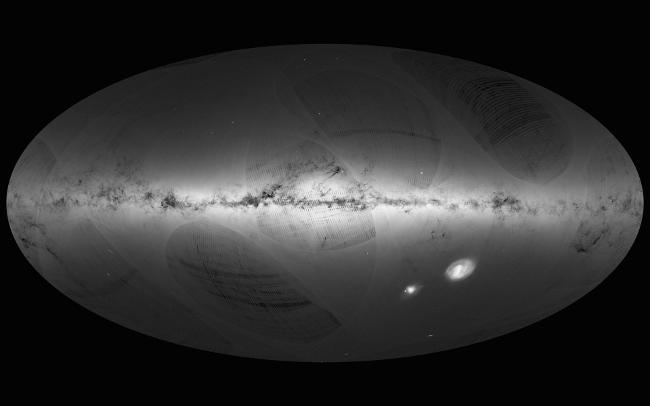 Gaia's first sky map. Image: ESA/Gaia/DPAC