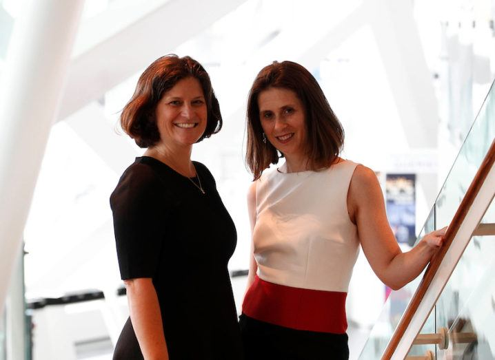 Astia CEO Sharon Vosmek and MD Victoria Pettibone at Bord Gáis Energy Theatre for Inspirefest 2016
