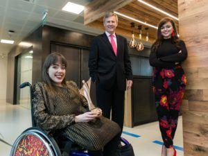 Izzy Wheels founders and Alastair Blair