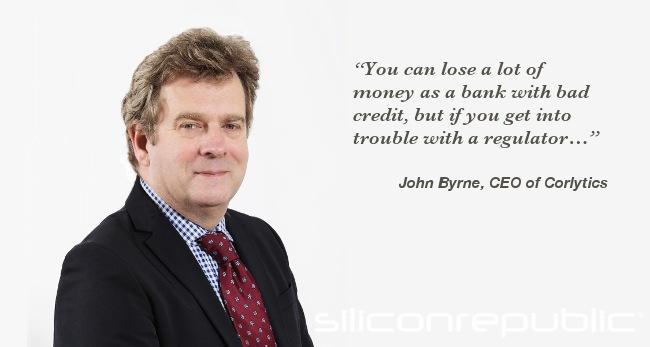 John Byrne, CEO of Corlytics. Image: Corlytics. Text: Siliconrepublic.com
