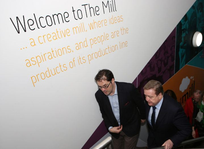 Minister of State for Employment and Small Business, Pat Breen, TD, with Alan Costello, co-chair of The Mill.