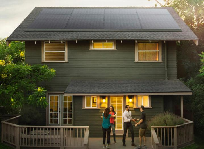Tesla partnered with Panasonic for this solar panel project. Image: Tesla