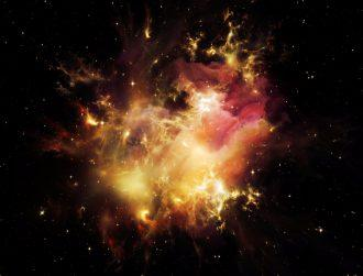 Astronomers snap incredible image of two stars' explosive collision