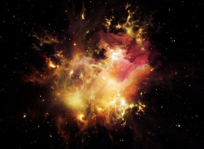 Stars exploding