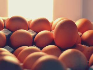 Eggs in a pile