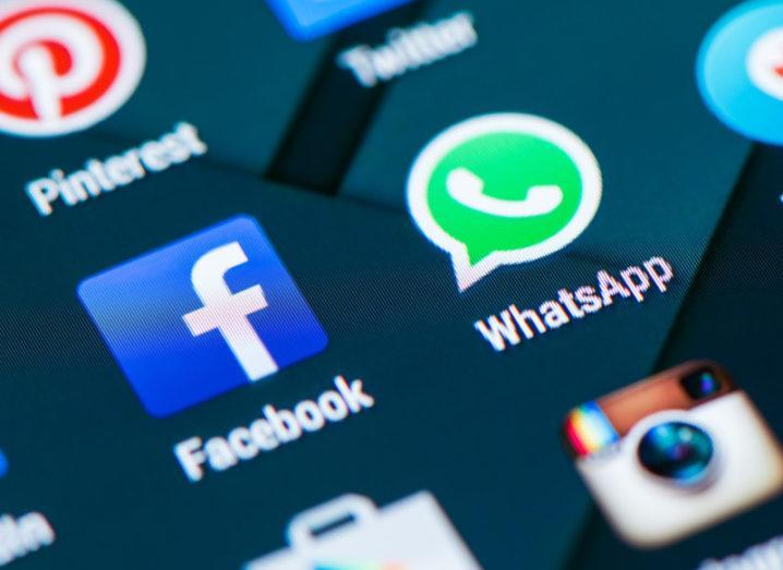 WhatsApp and Facebook logos. Image: Stefano Garau/Shutterstock