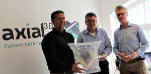 From left: Axial3D's board members Dr Sandy McKinnon, Patrick Hurst and Wesley Hanson. Image: Axial3D
