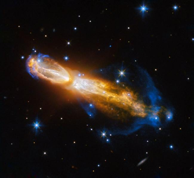 The Calabash Nebula, otherwise known as the Rotten Egg Nebula. Its technical name is OH 231.8+04.2. Image: ESA/Hubble and NASA.