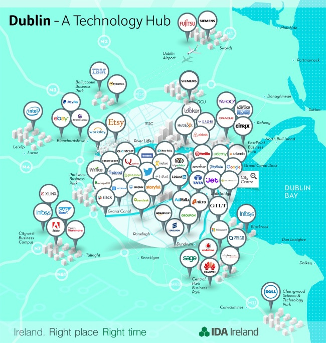 IDA infographic: Dublin is the digital hub of Europe