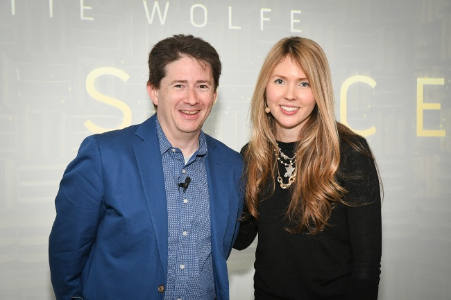 Nokia Bell Labs president Marcus Weldon with musician Beatie Wolfe