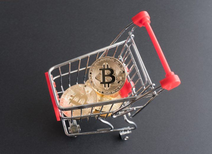 Bitcoin in trolley