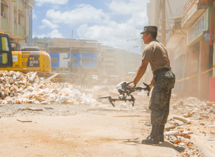 Drone rescue operation