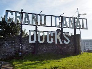Grand Canal Docks sign