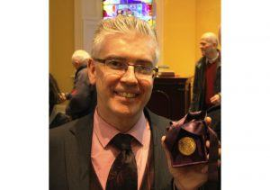 Prof Henry Curran with his 2017 Boyle Higgins Gold Medal . Image: NUI Galway