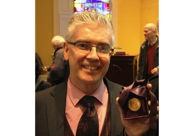 Prof Henry Curran with his 2017 Boyle Higgins Gold Medal