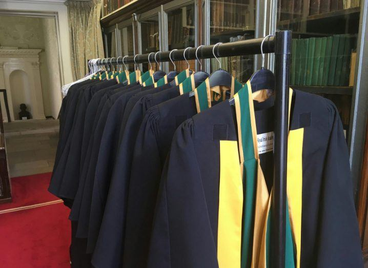 Robes at the ready for RIA Admittance Day 2017. Image: @RIAdawson/Twitter
