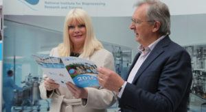 Careers in Biopharma: Jobs minister Mary Mitchell O'Connor with NIBRT CEO Dominic Carolan