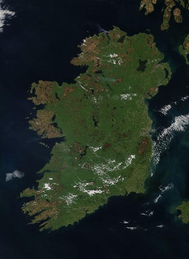 Ireland NASA image