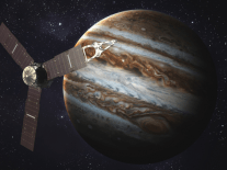 First findings from Juno reveal stunning image of Jupiter's south pole