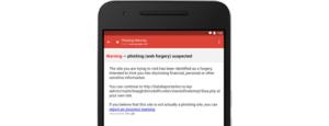 The new warning. Image: Google