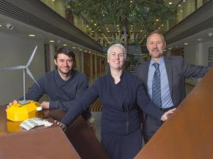 From left: Dr Gerry Sutton, of the MaREI research centre; Dr Anne Moore, UCC School of Pharmacy; Dr Michael O'Connor, MaREI Research Centre. All three are participants in Sprint II. Image: Michael Mac Sweeney/Provision