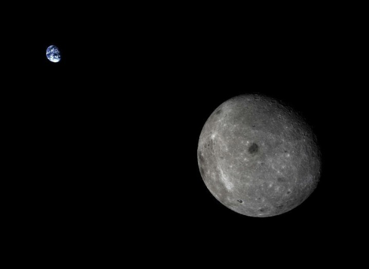 The dark side of the moon, as seen by a 2014 Chinese probe. Image: Xinhuanet