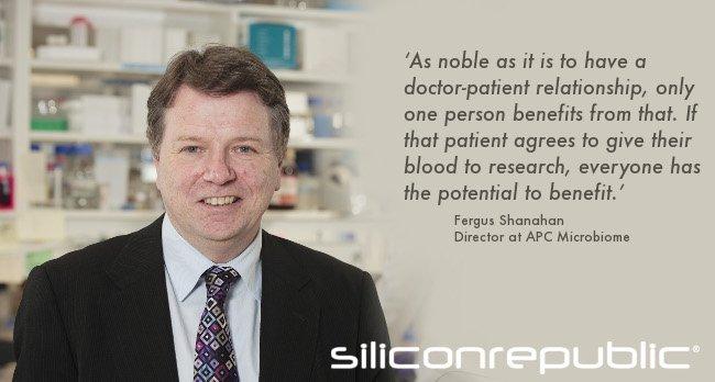 Fergus Shanahan, director at APC Microbiome. Image: Tomas Tyner. Edit: Siliconrepublic.com
