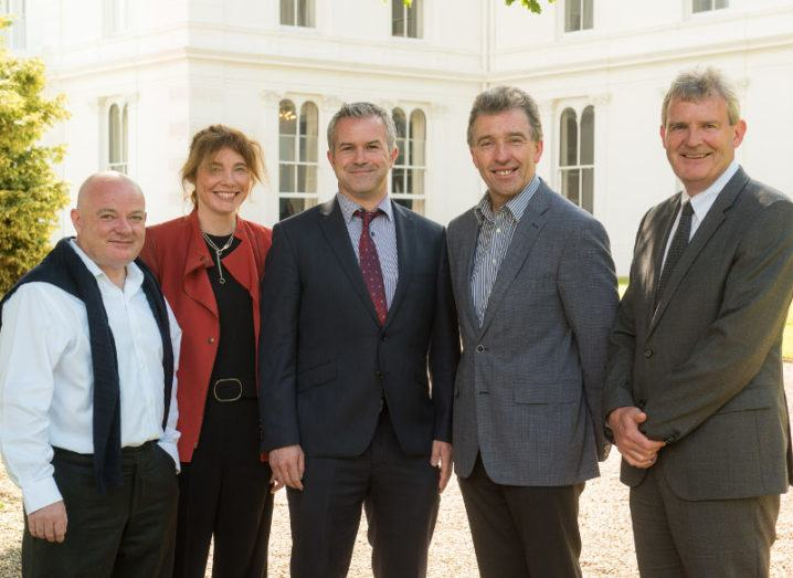 From Left: Niall Olden, managing partner at Kernel Capital; Dr Tara Dalton, CEO, AltraTech; Dr Brian O'Farrell and Dr Tim Cummins, co-founders of AltraTech; Cyril McGuire, CEO of Infinity Capital.