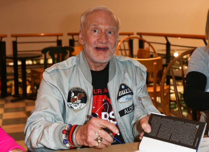 Buzz Aldrin book signing