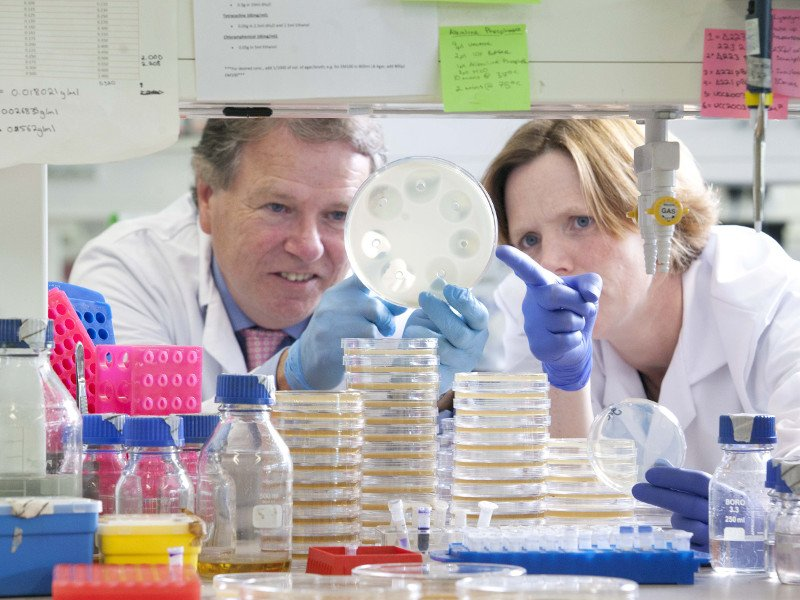 Fergus Shanahan with Dr Sally Cudmore, GM of APC Microbiome. Image: Clare Keogh