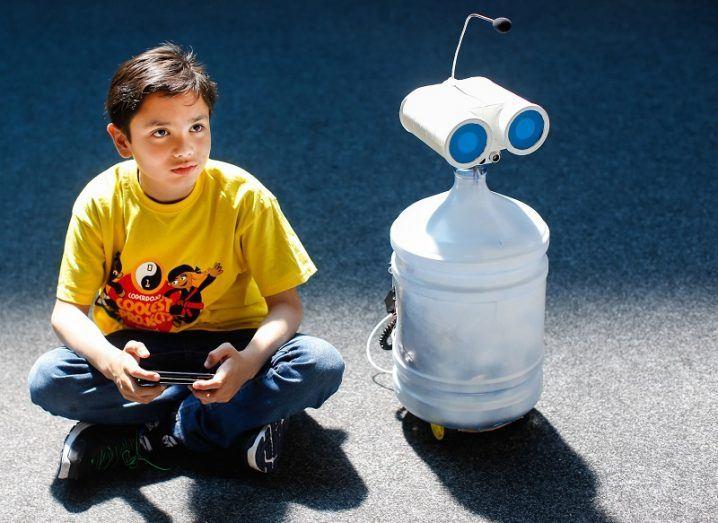 Dojo and his robot, Nico