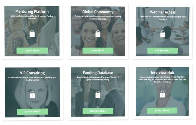 Global Invest Her website screenshot