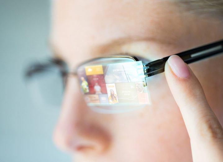 Person wearing future glasses