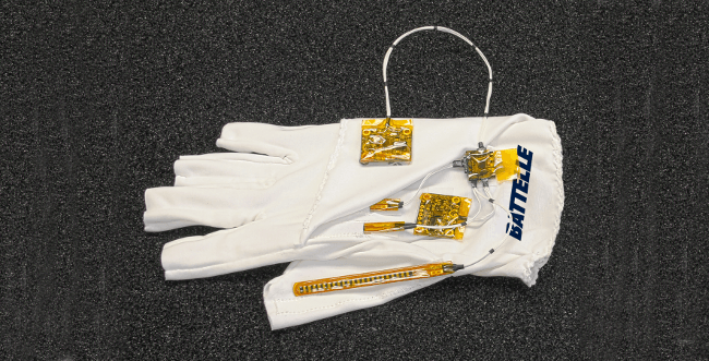 The glove used by Battelle to help paraplegics regain hand movement. Image: Battelle