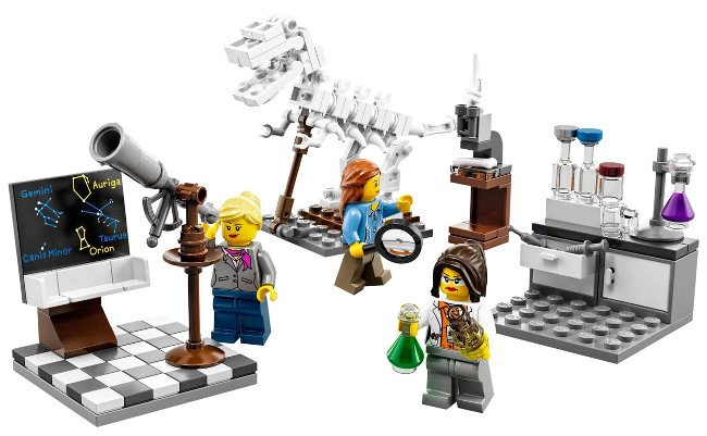The Lego Research Institute set devised by Dr Ellen Kooijman