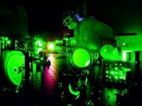Laser with brightness of one billion suns 'bends' light as it scatters