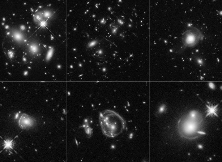 Hubble images of distant galaxies