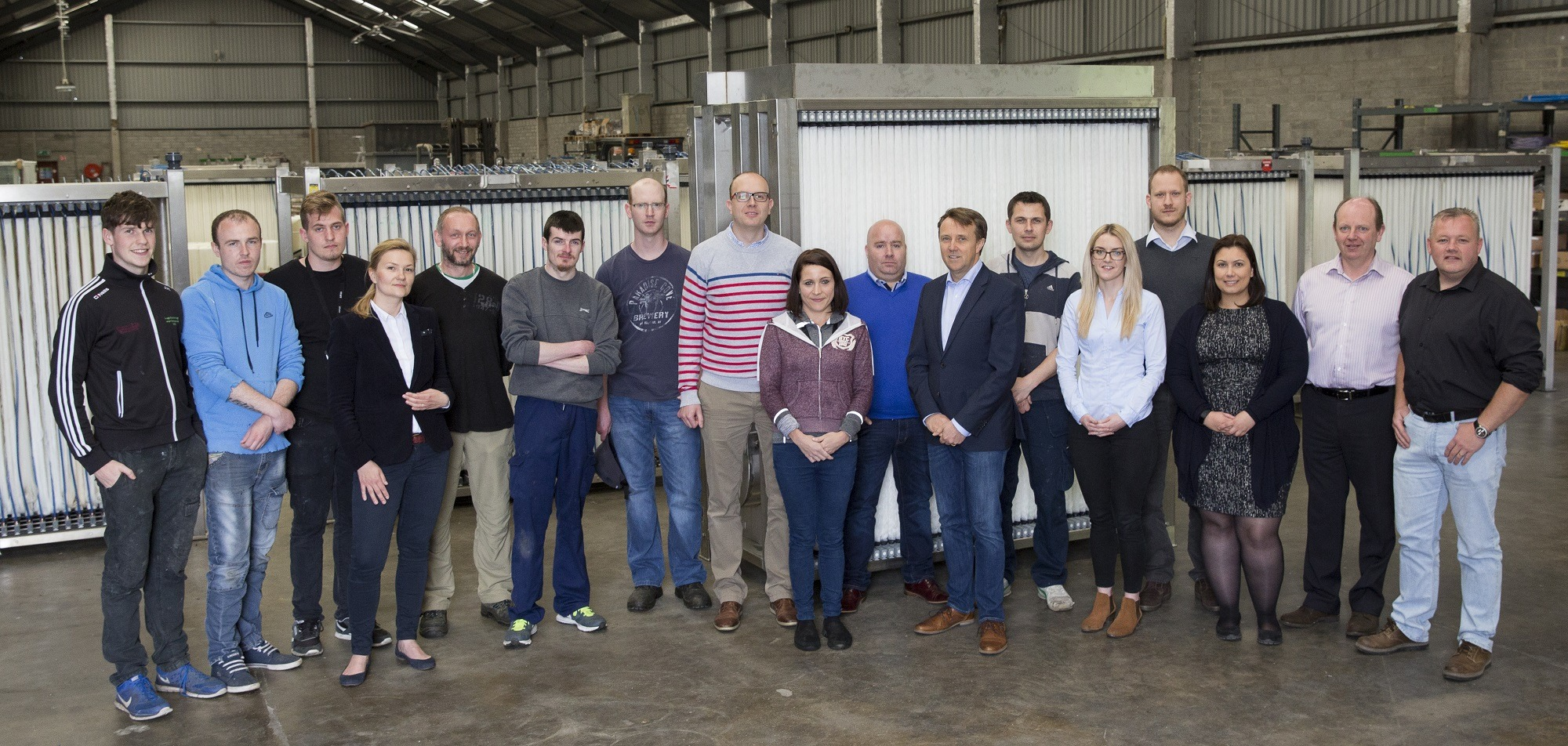 The OxyMem team at the company base in Athlone. Image: OxyMem
