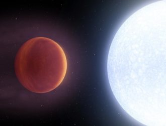 Doomed exoplanet discovered with surface hotter than most stars