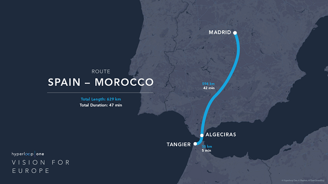 Hyperloop One details plans for 200km trip in 15 minutes