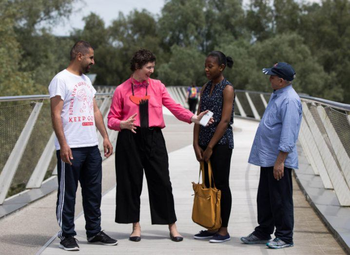 Wadkil Niazi, Grainne Hassett, Kimberly Justen and Ali Zaman. Image: Sean Curtin True Media