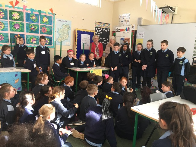Fourth-class pupils grill the budding entrepreneurs with fantastic questions