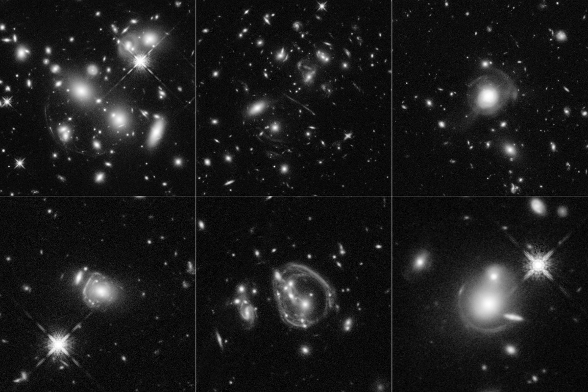 These six Hubble images reveal faraway galaxies as much as 10,000-times more luminous than our Milky Way. The galaxies existed between 8bn and 11.5bn years ago. Image: NASA, ESA, and J. Lowenthal (Smith College)