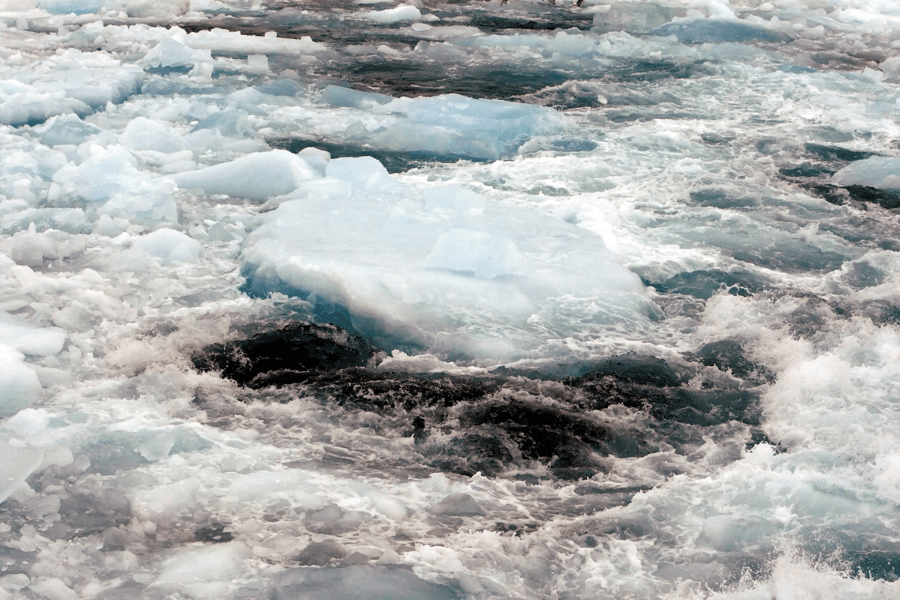 View of the polar ice rim