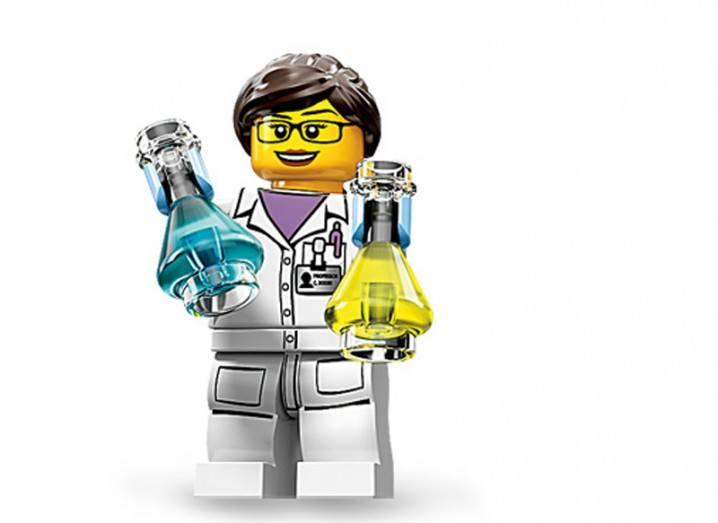 Lego woman scientist