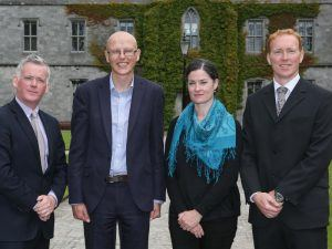 From left: David Minton, director of the Northern and Western Regional Assembly; Dr Ger O'Connor, Dr Anne Marie Power and Dr Stephen Hynes from NUI Galway. Image: Aengus McMahon