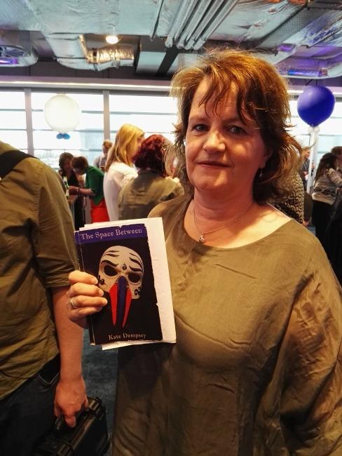 Poet Kate Dempsey at Inspirefest's Fringe event in Facebook Dublin