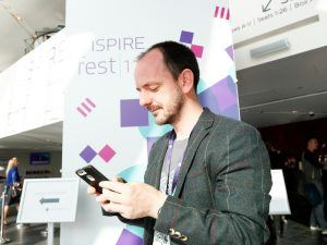 Darragh Doyle pictured at Inspirefest 2017