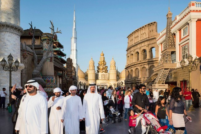 Global Village, Dubai, January 2017. Global Village is a family entertainment destination with a shopping experience at 32 pavilions representing more than 75 countries. Major landmark buildings from the whole world have been reconstructed here. Image: Nick Hannes, Documentary Series Winner, Magnum and LensCulture Photography Awards 2017.