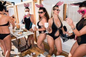 Beach party, Dubai, January 2016. Russian women celebrating Friday brunch at a beach club in Dubai. Image: Nick Hannes, Documentary Series Winner, Magnum and LensCulture Photography Awards 2017.